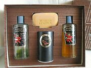 Russian Leather By L'argene Vintage Set Cologne After Shave Talc Soap Very Rare