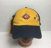 Vintage Cub Scout Hat With Webelos Badge And 5 Pins Wolf Twill Size S/m