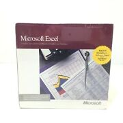 Microsoft Excel 2.20 Mac Software Vintage 1989 New Nos - Complete Spreadsheet