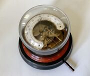 Antique German Aneroid Barometer Sealed In Glass Dome Rare