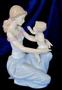 Lladro - One For You One For Me 6705 - Mother/child Baby 595