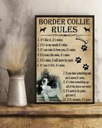 Funny Rules For Your Dog Border Collie Art Print Poster Indoor Home Decor Gift