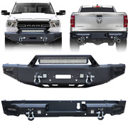 New Front/rear Bumper W/winch Plateandled Lights For 2019/2020/2021 Dodge Ram1500