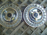 Two Vintage 1963 63 Ford Thunderbird T Bird Hubcaps Wheel Covers Center Caps