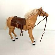 Vtg Toy Plastic Horse Articulated Jointed Head Legs Mii Brady For Barbie