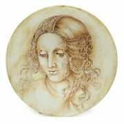 Leonardo One Of A Kind Large Wall Plate With Noblewoman By Francesca Niccacci