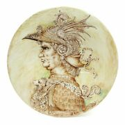 Leonardo One Of A Kind Large Wall Plate With Nobleman By Francesca Niccacci