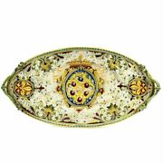 Majolica Medici Large Oval Tray With Two Handles