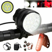 T6 Led Bicycle Light Mountain Bike Front Lamp Headlight Cycling Recharge Battery