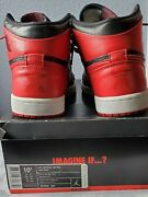 Pre Owned Banned Nike Air Jordan 1 Retro High 2011 Bred Size 10.5
