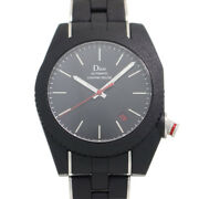 Free Shipping Pre-owned Dior Homme Siful Rouge A06 Black Time Self-winding