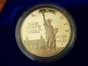 1986 S Statue Of Liberty Proof 2 Coin Silver Dollar And Clad Half Us Mint Set