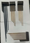 Vintage Clock Chime Rods For Parts And Repair. Clock Movement . Lot Of 4