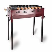 New Terrace Garden Limited Edition Barbeque Grill With 7 Skewers - Wine