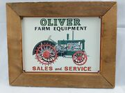 Oliver Farm Equipment Sales And Service Tractor Tin Aaa Sign Co Coitsville, Oh