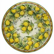Majolica Limoni Montelupo Extra Large Wall Plate Centerpiece 32d