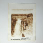 Painting By Ania Toledo Hernandez,2012. Signed. Cuban Art. Waterfall Scenery.