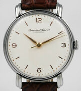 International Watch Company Stainless Steel Calibre 89 - White Dial 1951