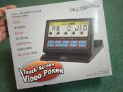 Reczone 7 In 1 Video Poker Game Portable Touch Screen New Open Box  Tested