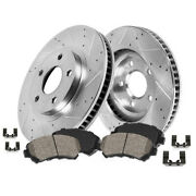 Front Drill And Slot Brake Rotors And Ceramic Pads For Chrysler Dodge Ram Volkswagen
