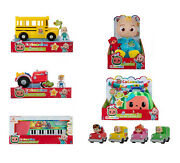 Cocomelon Gift Bundle Jj Doll Keyboard Tractor Check Up Box School Bus Cars