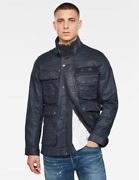 G-star Raw Multipocket Navy Denim Field Jacket - Size Large Rrp Andpound225