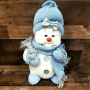 The Petting Zoo Snow Buddies Large 18 Plush Snowman In Knit Hat W/tags