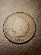 1876 Indian Head Cent Penny