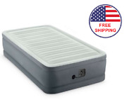 Inflatable Air Bed Mattress Elevated Twin Size Built-in Pump With Carry Bag New