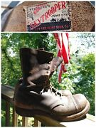 Wwii 1940and039s Us Skytrooper Paratrooper Jump Combat Boots Seiberling Old