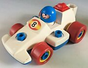 Vintage Retro Fisher Price 1984 Take Apart Racing Car 1980s Classic Race Car Toy