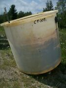 Used Cylindrical Tank - 750 Gallon Poly Round Tank-tanks-cylindrical