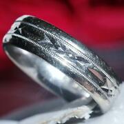 1920and039s Artcarved Antique 14k White Gold Sz 8 Comfort Fit Wedding Band Ring 6.9gr