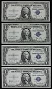 Rare Wide/narrow Changeovers 1 1935d Unc Silver Certificates M16511129g-32g