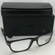 New Persol 👓 Reading Glasses 3096-v 95 55-18 Black And Silver Frames Readers