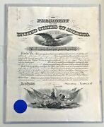 Teddy Roosevelt And William Howard Taft Signed 1906 Usa Army Commission Psa/dna