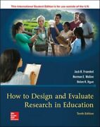 How To Design And Evaluate Research In Education Jetzig Fraenkel Jack