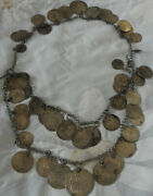Collectible Silver Turkish Ottoman Empire Pendant Necklace From Old Coins