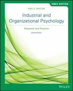 Industrial And Organizational Psychology Gp Spector Paul E. John Wiley And Sons
