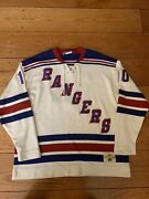 New York Rangers Stall And Dean Vintage Nhl Heritage Sweater Jersey Xl Rare