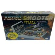 Tomy Astro Shooter Table Top Pinball 1991 Blue Age 8 Up Electronic Game In Box
