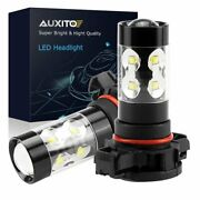 H16 5202 Ps24w Extreme Bright 100w Led Fog Driving Lamp Drl 6000k 2800lm Auxito