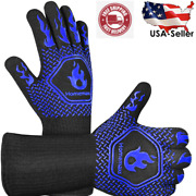 Bbq Gloves Heat Resistant Grill Gloves Non Slip Food Kitchen Oven Mitts Cooking