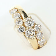 K18yg Diamond Ring D1.00ct About 3.0g / About 12.5 Luxurious Gift Presents G
