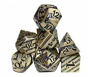 Tiny Gremlin Metal Dice Of Dwarven Mining - Dungeons And Dragons Dice - Purpl...