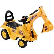 Tractors Digger Kid Ride On Excavator Toy Movable Scooter Walker Pretend Play