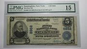 5 1902 Farmingdale New York Ny National Currency Bank Note Bill 8882 F15 Pmg