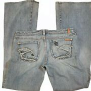 Silver Mirage Jeans Women's Size 32/35 Low Rise Boot Cut Stretch Blue