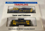 Ho Scale Walthers Trainline Alaska Railroad Loco 1802 And Caboose 1086 Nos