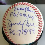 Perfect Game Signed Oml Selig Ball / 9 Sigs Larson, Koufax, Wells, Johnson, Con
